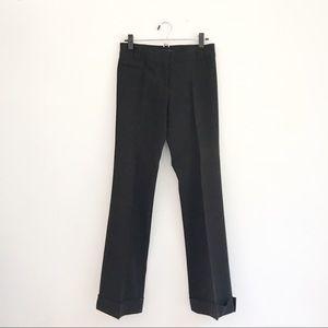 BCBG Classic Black Cuffed Trousers